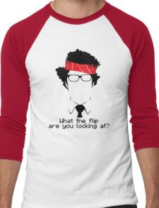 What The Flip Are You Looking At? Men's Baseball ¾ T-Shirt