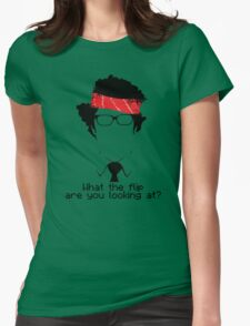 What The Flip Are You Looking At? Womens Fitted T-Shirt