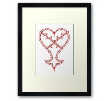 Kingdom Hearts: Keyblades to my Heartless Framed Print