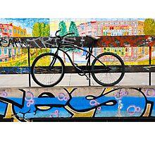 On your bike Banksey Photographic Print