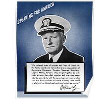 Admiral Nimitz -- Speaking For America Poster