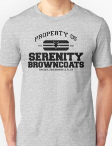 Property of Serenity Browncoats Uncivilized Hoopball Club Unisex T-Shirt