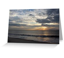 Cloudy Rays Greeting Card