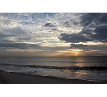 Cloudy Rays Photographic Print