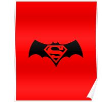 Batman/Superman Logo (DC Comics) Poster