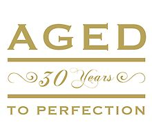 30th birthday Aged To Perfection by thepixelgarden