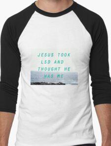 Jesus Took LSD Men's Baseball ¾ T-Shirt