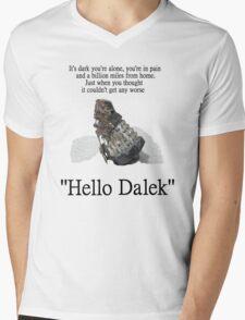 Hello Dalek Mens V-Neck T-Shirt