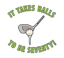 70th Birthday Golf Humor by thepixelgarden
