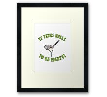 80th Birthday Golf Humor Framed Print