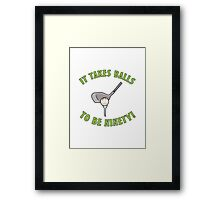 90th Birthday Golf Humor Framed Print
