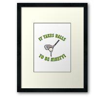 90th Birthday Golf Humor Framed Print