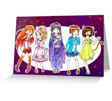 Rainbow Girls Greeting Card
