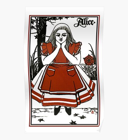 Alice In Wonderland; A Play. Poster