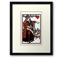 Alice In Wonderland; A Play. Queen of Hearts Framed Print