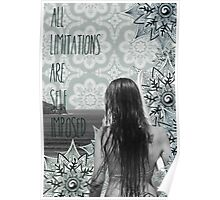 """All limitations are self imposed"" Poster"