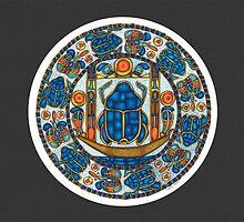 Resurrection Mandala - Full-Color Card, Grey by TheMandalaLady
