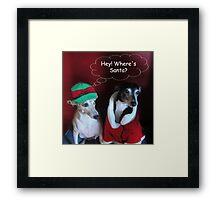 Where's Santa? Framed Print