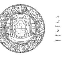 Resurrection Mandala - Card, Color-Your-Own w/Msg by TheMandalaLady
