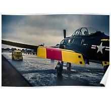 "U.S. Navy North American T28D ""Trojan"" Poster"
