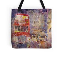 Red Bus Busy London Traffic - Cities Art Gallery Tote Bag