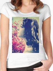Lillian of Broken Blossoms Women's Fitted Scoop T-Shirt