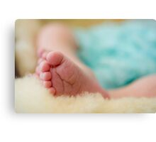 10 Little Toes Canvas Print