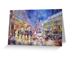 Busy London - Cities Art Gallery Greeting Card