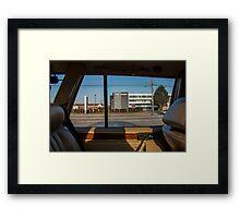 Backseat View Framed Print