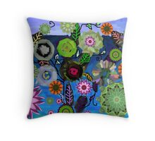 Made up flowers from Mandalas. Throw Pillow