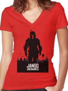 Unchained Women's Fitted V-Neck T-Shirt