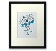 A little suffering is good for the soul Framed Print