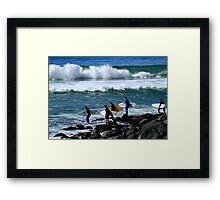 Everybody's Gone Surfing  Framed Print