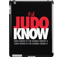 Judo Know iPad Case/Skin