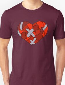 Patchwork Heart- Black Outline  T-Shirt
