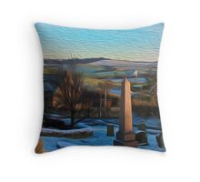 The View From Mossgreen Cemetery Throw Pillow