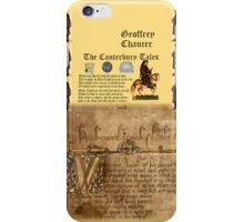 Chaucer's Canterbury Tales iPhone Case/Skin