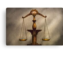Lawyer - Scale - Fair and Just Canvas Print