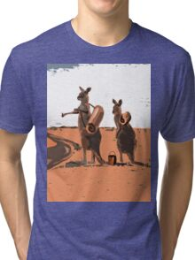 AUSSIE BACKPACKERS Tri-blend T-Shirt