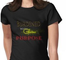 Burdened With Glorious Purpose - Red Womens Fitted T-Shirt