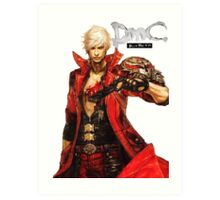 Dante with Red Rose Art Print