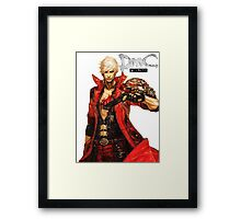 Dante with Red Rose Framed Print