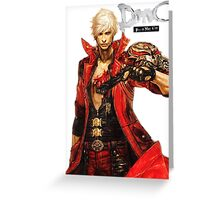 Dante with Red Rose Greeting Card