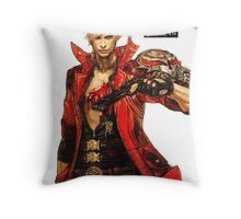 Dante with Red Rose Throw Pillow