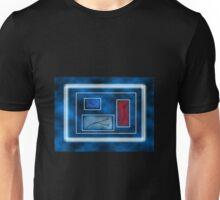 Blue Rectangles Unisex T-Shirt