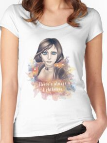 There's always a lighthouse... Women's Fitted Scoop T-Shirt