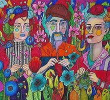Crafting in the Garden by Alexandra Melander