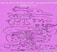 TREE OF LIFE IN THE RIVER OF LIFE by Lorraine Wright