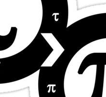 Tau vs Pi Sticker
