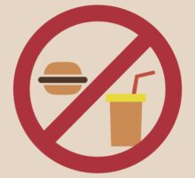 NO FOOD or DRINK hamburger and soft drink by jazzydevil